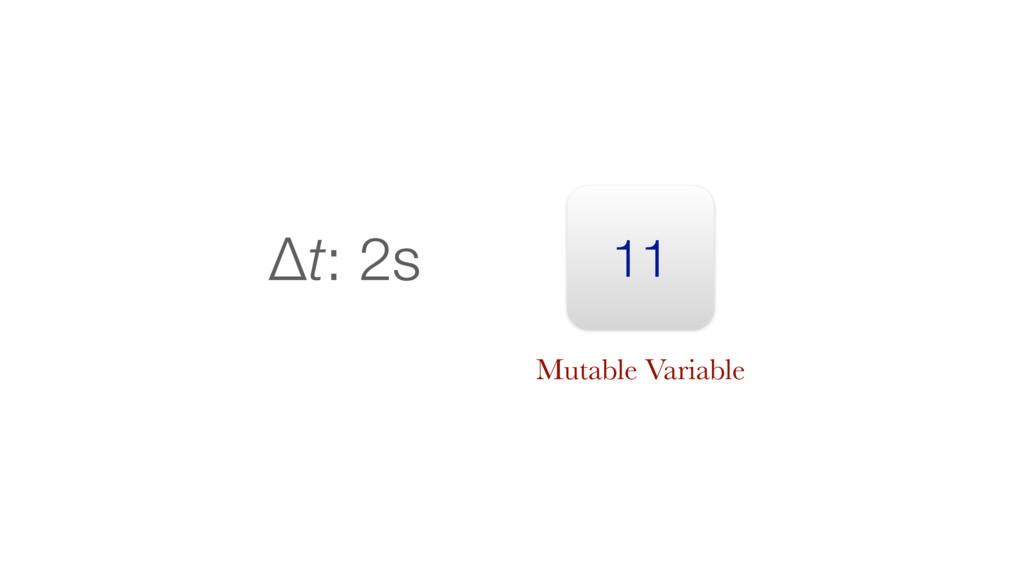 11 Δt: 2s Mutable Variable