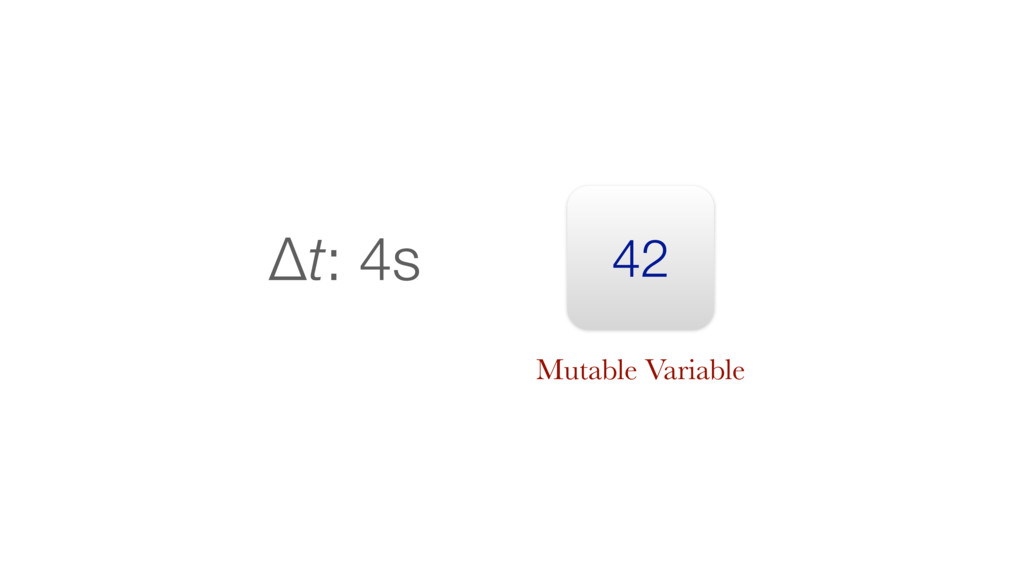 42 Δt: 4s Mutable Variable