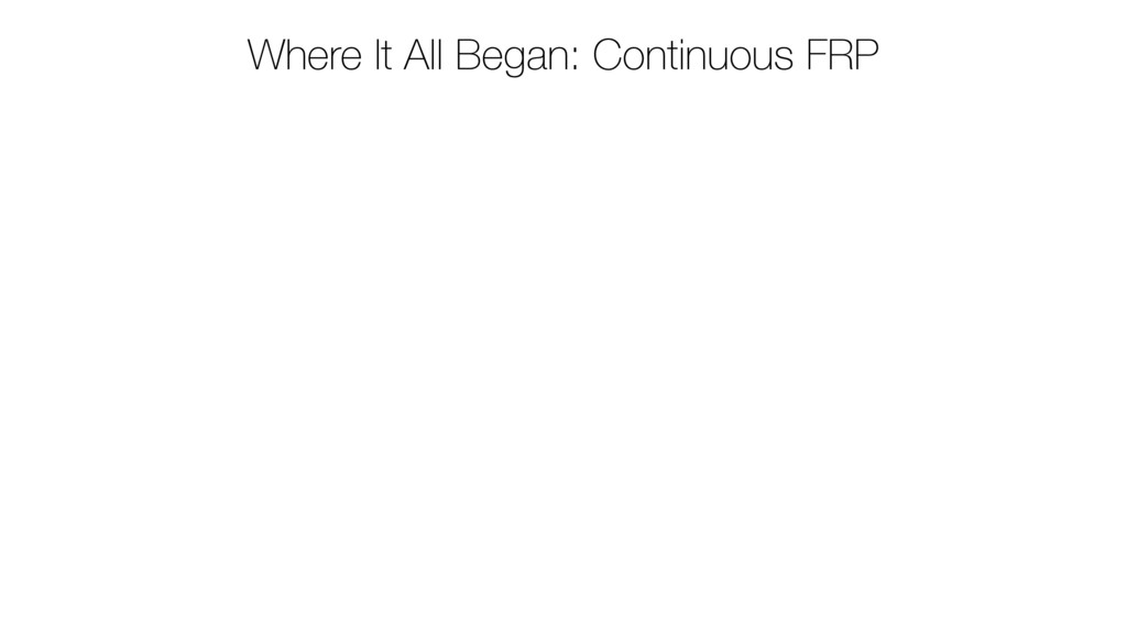 Where It All Began: Continuous FRP