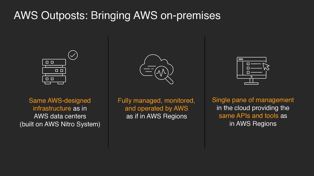 Same AWS-designed infrastructure as in  AWS da...