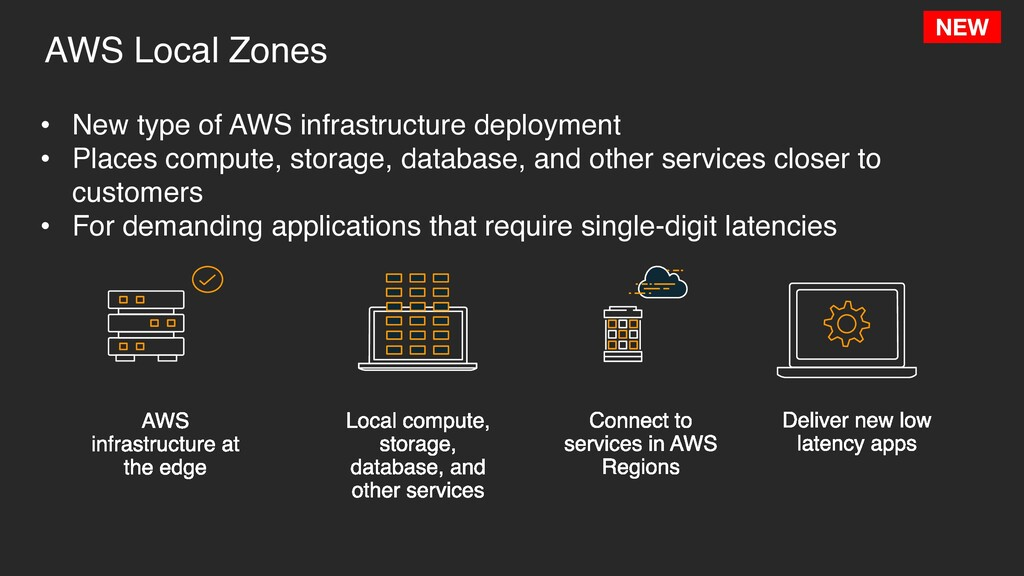 AWS Local Zones • New type of AWS infrastructur...