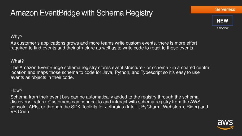 Amazon EventBridge with Schema Registry Why? As...