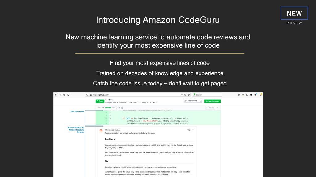 Introducing Amazon CodeGuru New machine learnin...