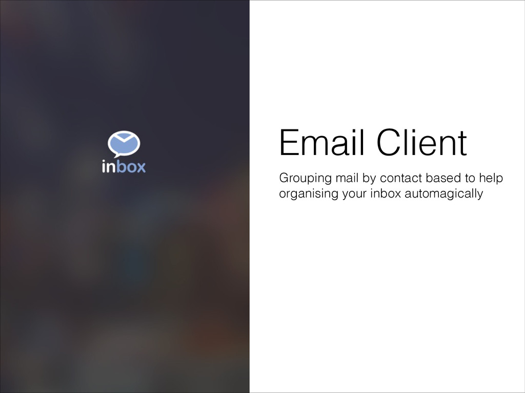 Email Client Grouping mail by contact based to ...