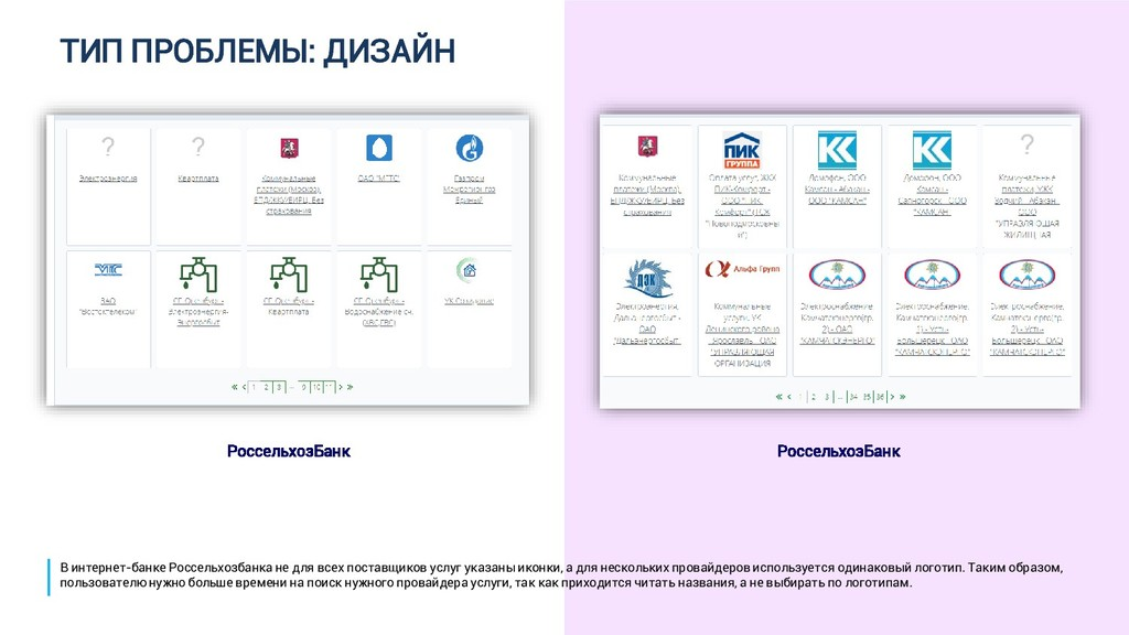 ТИП ПРОБЛЕМЫ: ДИЗАЙН РоссельхозБанк РоссельхозБ...