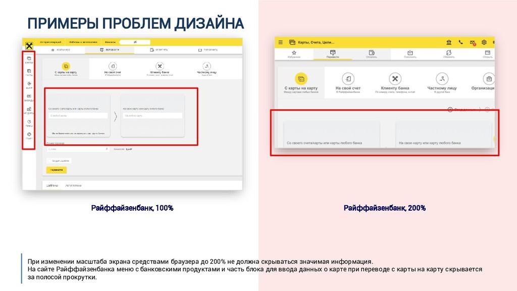 ПРИМЕРЫ ПРОБЛЕМ ДИЗАЙНА Райффайзенбанк, 100% Ра...