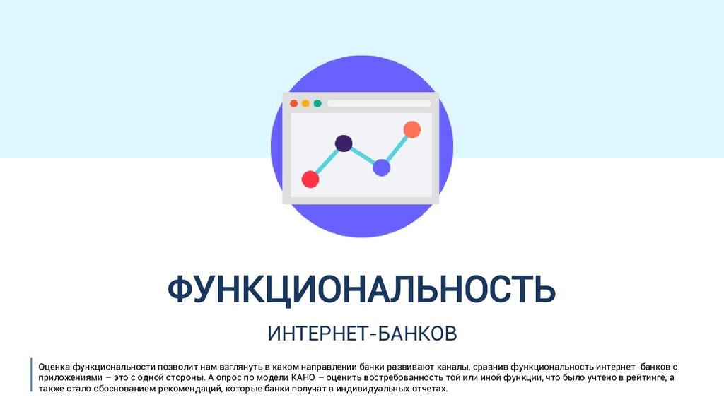ФУНКЦИОНАЛЬНОСТЬ ИНТЕРНЕТ-БАНКОВ Оценка функцио...