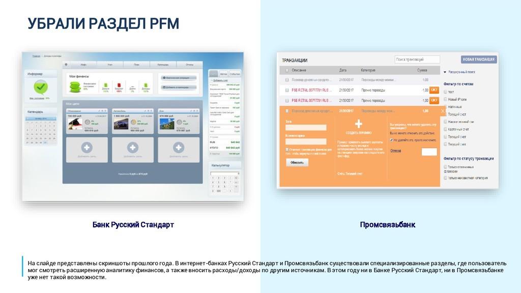 УБРАЛИ РАЗДЕЛ PFM Банк Русский Стандарт Промсвя...