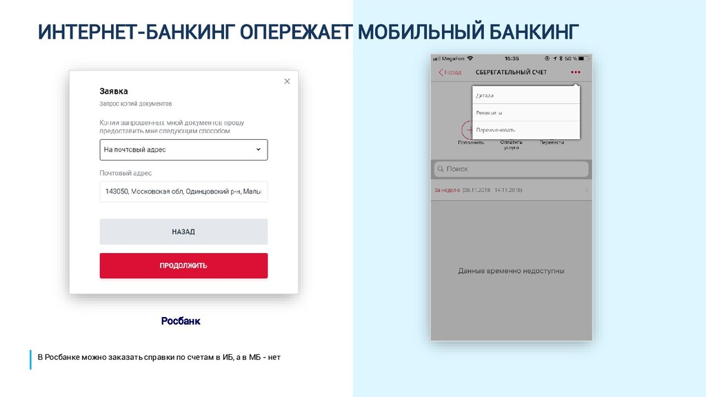 ИНТЕРНЕТ-БАНКИНГ ОПЕРЕЖАЕТ МОБИЛЬНЫЙ БАНКИНГ Ро...