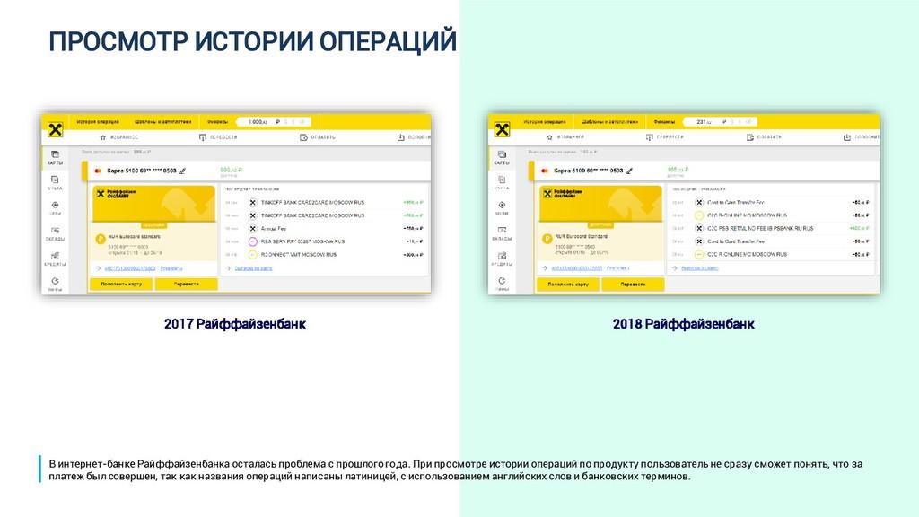 ПРОСМОТР ИСТОРИИ ОПЕРАЦИЙ 2017 Райффайзенбанк 2...