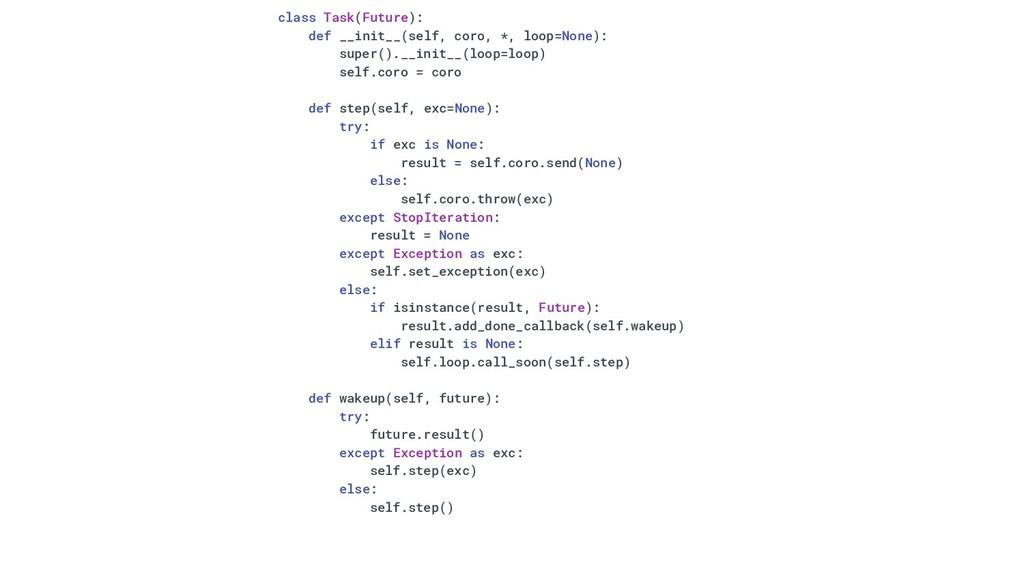 class Task(Future): def __init__(self, coro, *,...