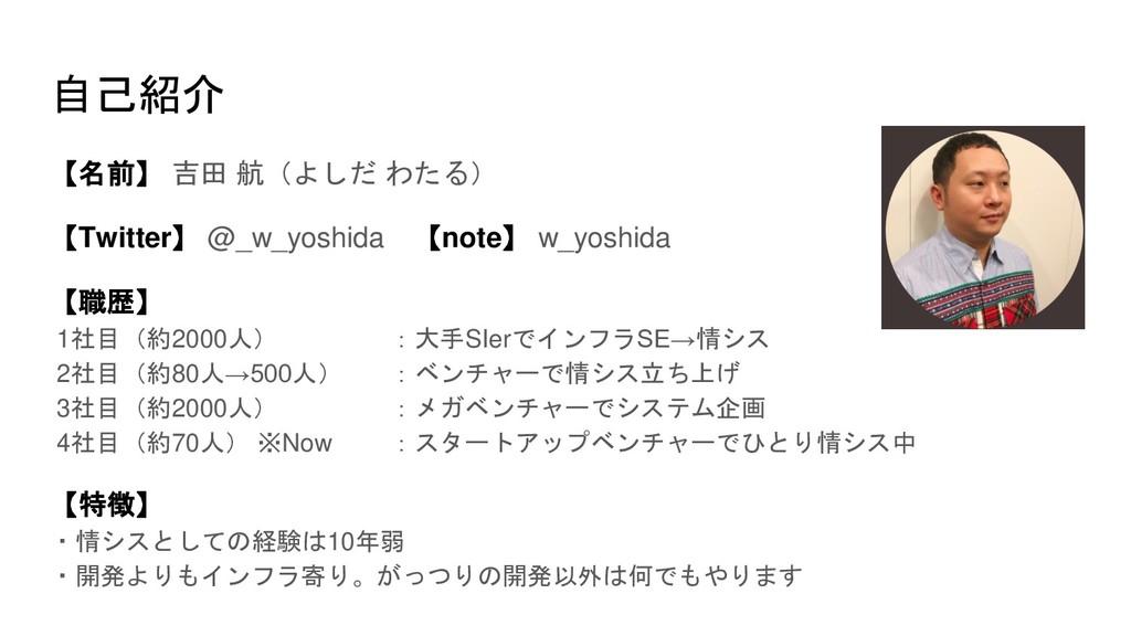 自己紹介 【名前】 吉田 航(よしだ わたる) 【Twitter】 @_w_yoshida 【...