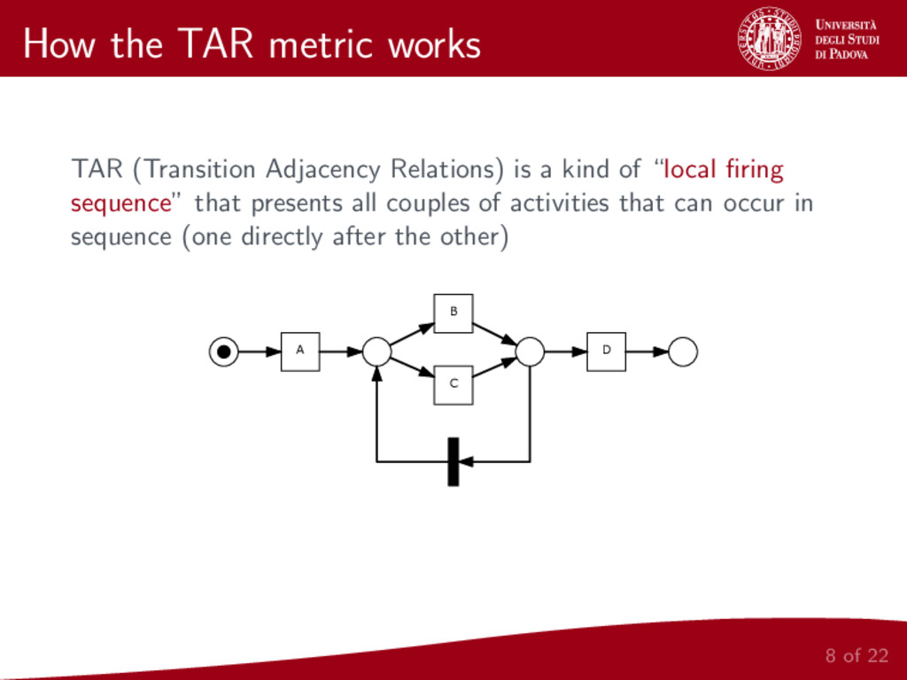 How the TAR metric works TAR (Transition Adjace...