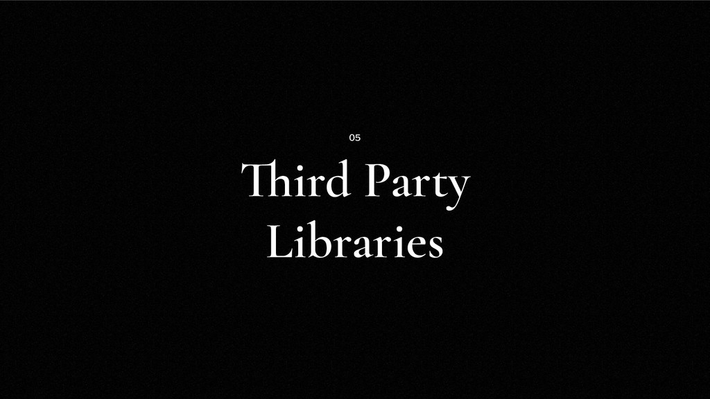 Third Party Libraries 05