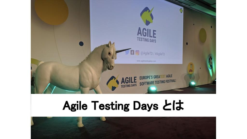 Agile Testing Days とは