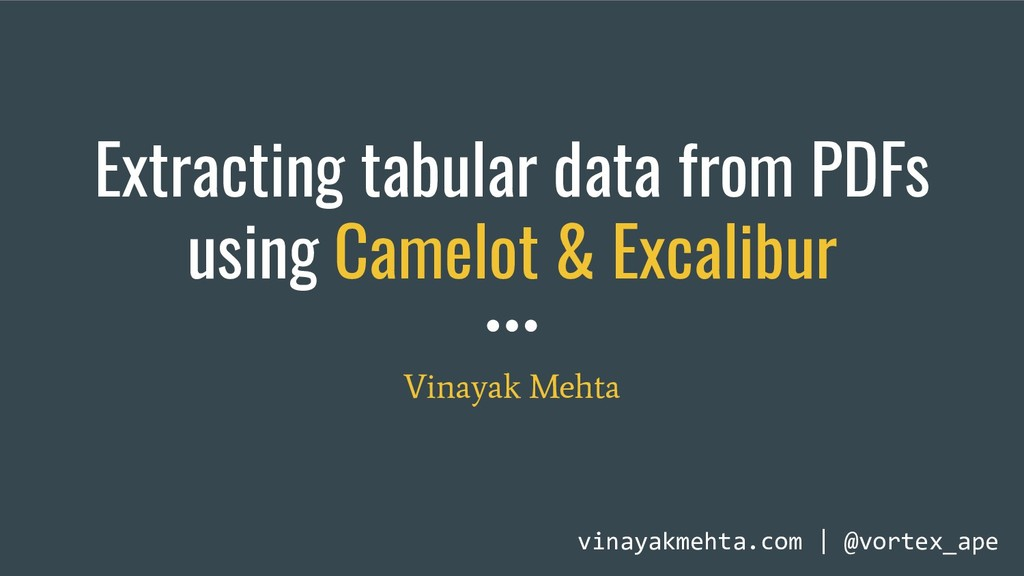 Extracting tabular data from PDFs using Camelot...