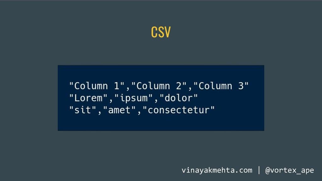 CSV vinayakmehta.com | @vortex_ape