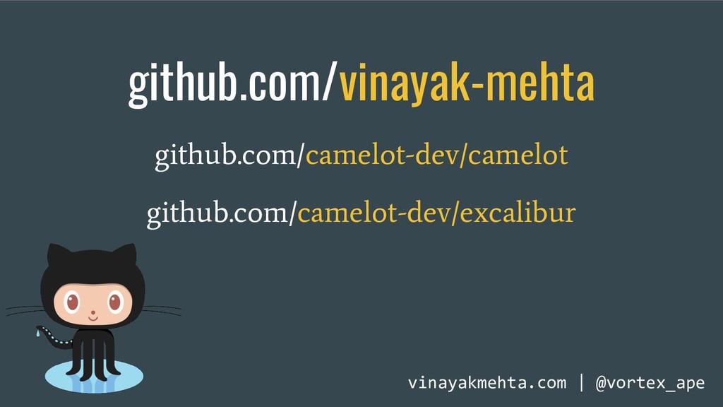 github.com/vinayak-mehta github.com/camelot-dev...