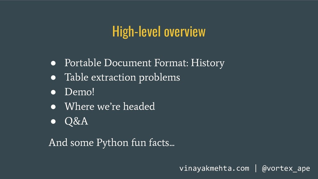 ● Portable Document Format: History ● Table ext...
