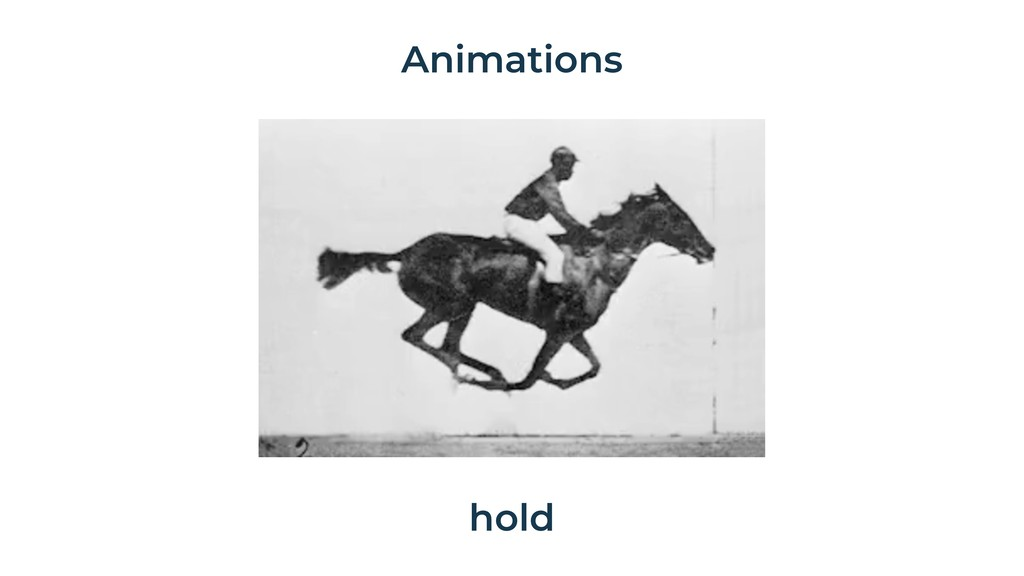 Animations hold