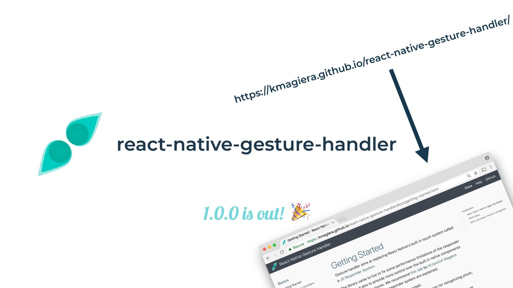 "react-native-gesture-handler 1.0.0 is out! "" re..."