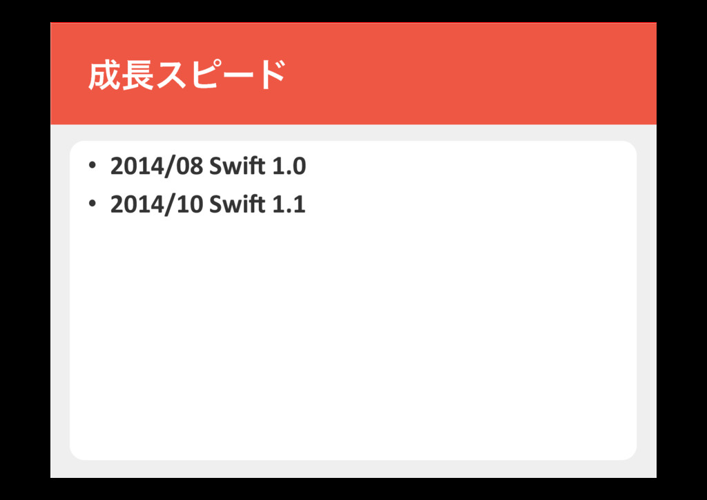 • 2014/08 Swi$ 1.0 • 2014/10 Swi$ 1.1 εϐʔυ