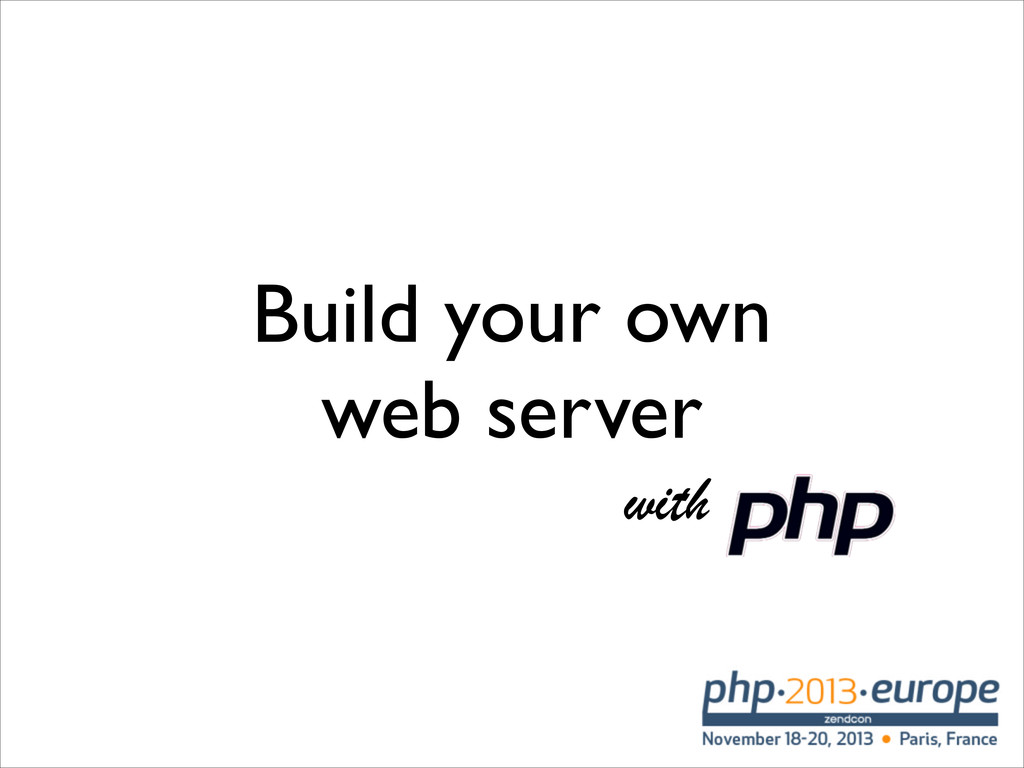 Build your own web server with