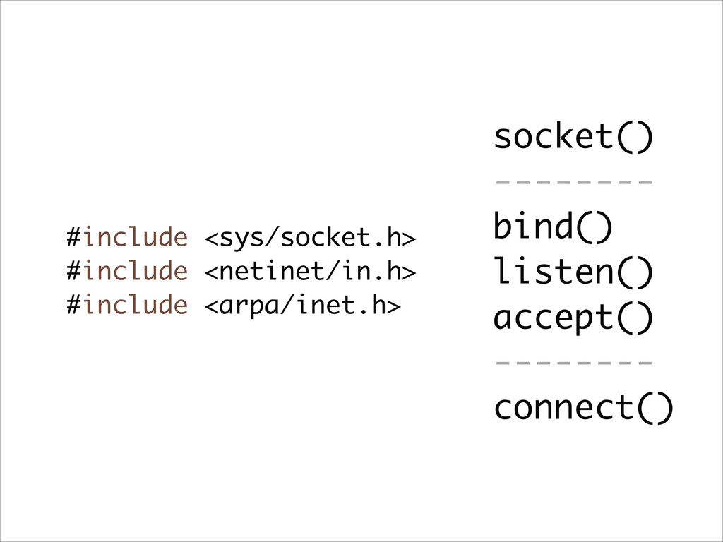 #include <sys/socket.h> #include <netinet/in.h>...