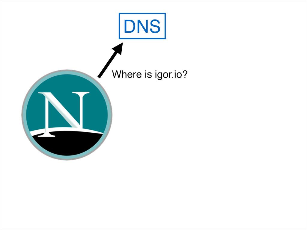 DNS Where is igor.io?