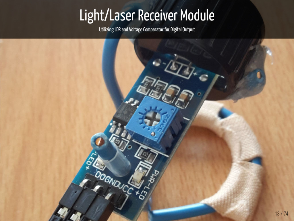 Light/Laser Receiver Module Utilizing LDR and V...