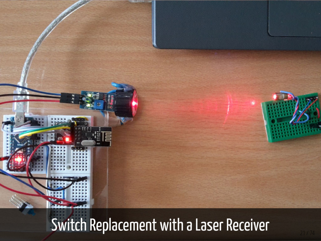 Switch Replacement with a Laser Receiver 21 / 74