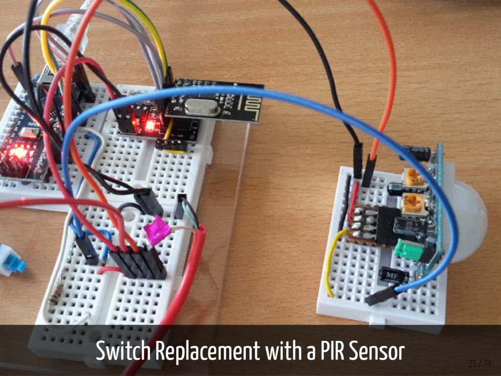 Switch Replacement with a PIR Sensor 25 / 74