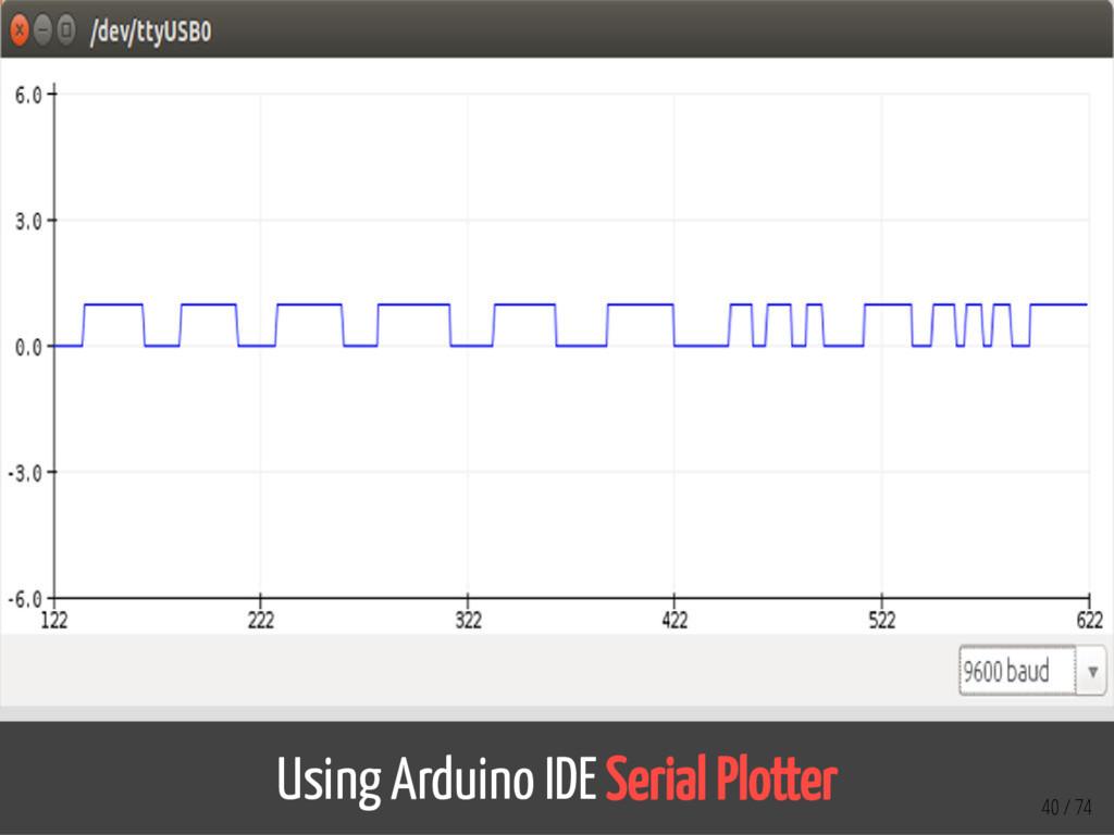 Using Arduino IDE Serial Plotter 40 / 74