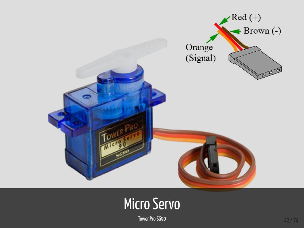 Micro Servo Tower Pro SG90 42 / 74