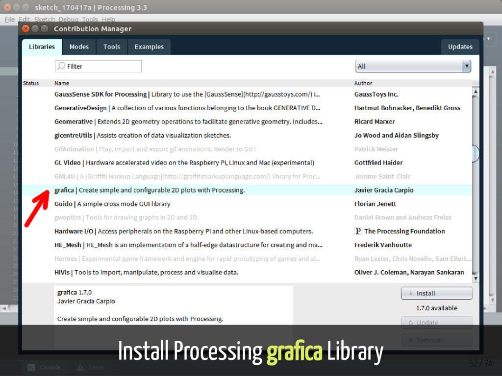 Install Processing gra ca Library 52 / 74