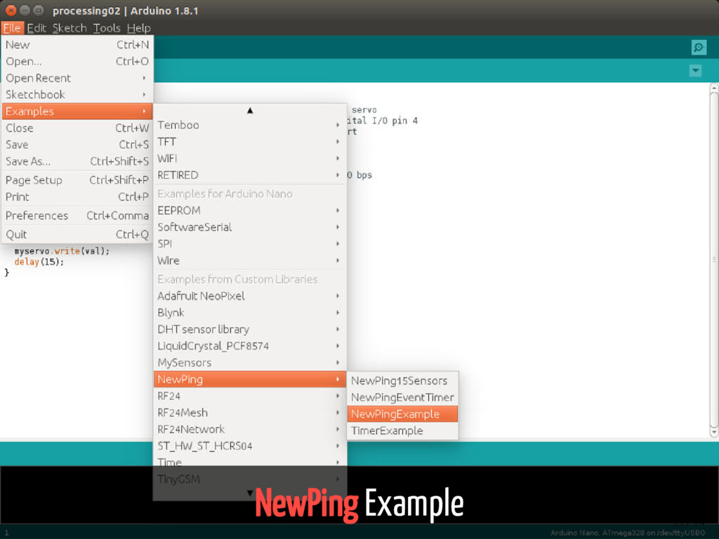 NewPing Example 53 / 74