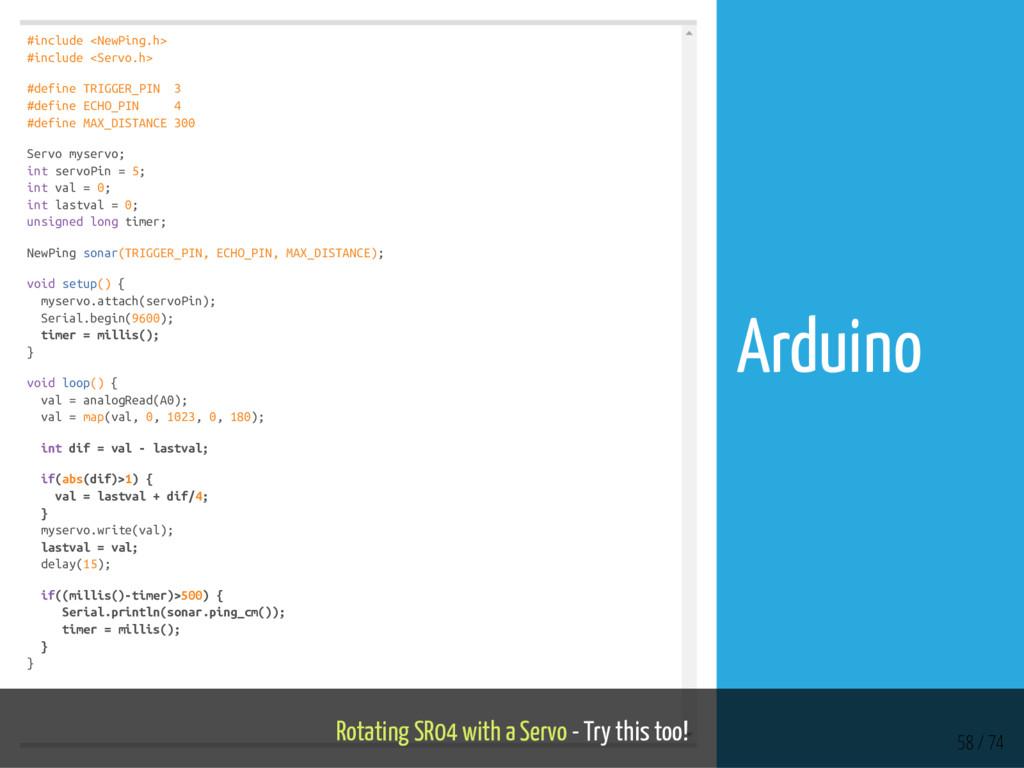 #include <NewPing.h> #include <Servo.h> #define...