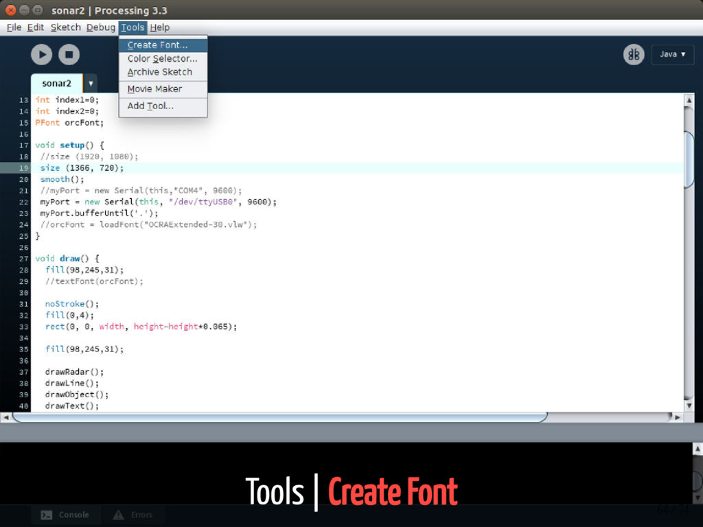 Tools | Create Font 64 / 74