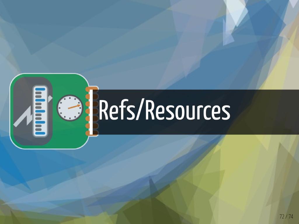 Refs/Resources 72 / 74