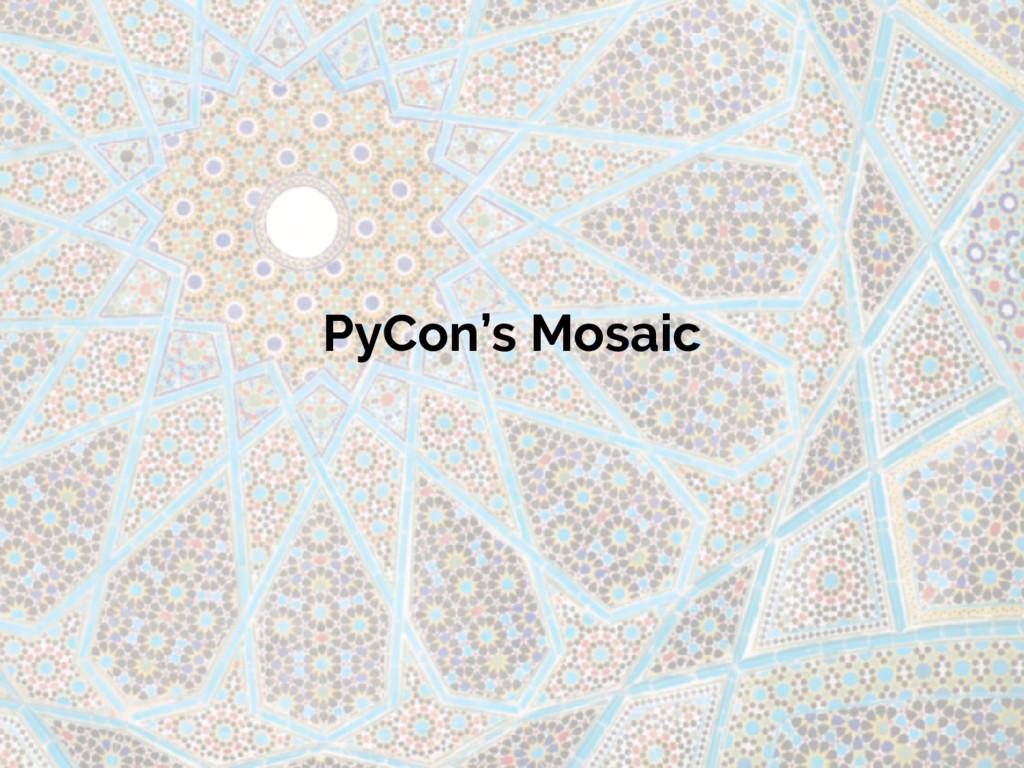 PyCon's Mosaic