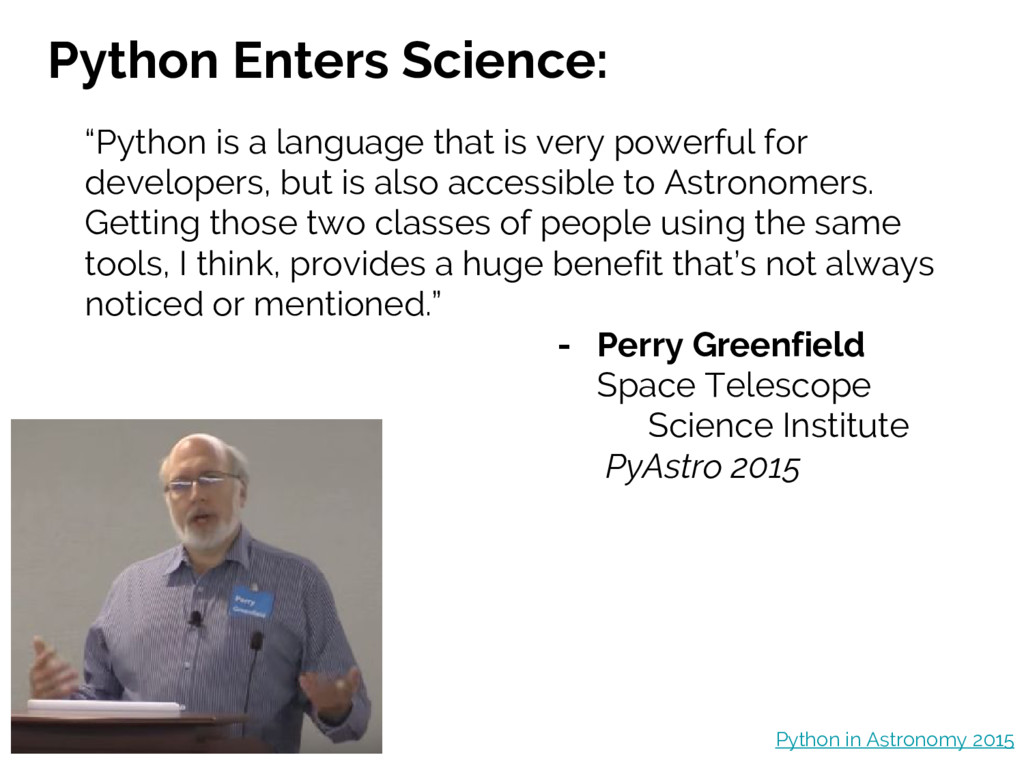 Python Enters Science: Python in Astronomy 2015...