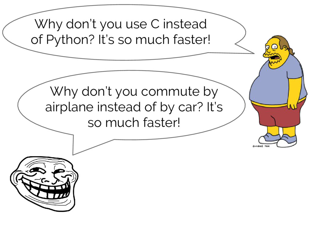 Why don't you commute by airplane instead of by...