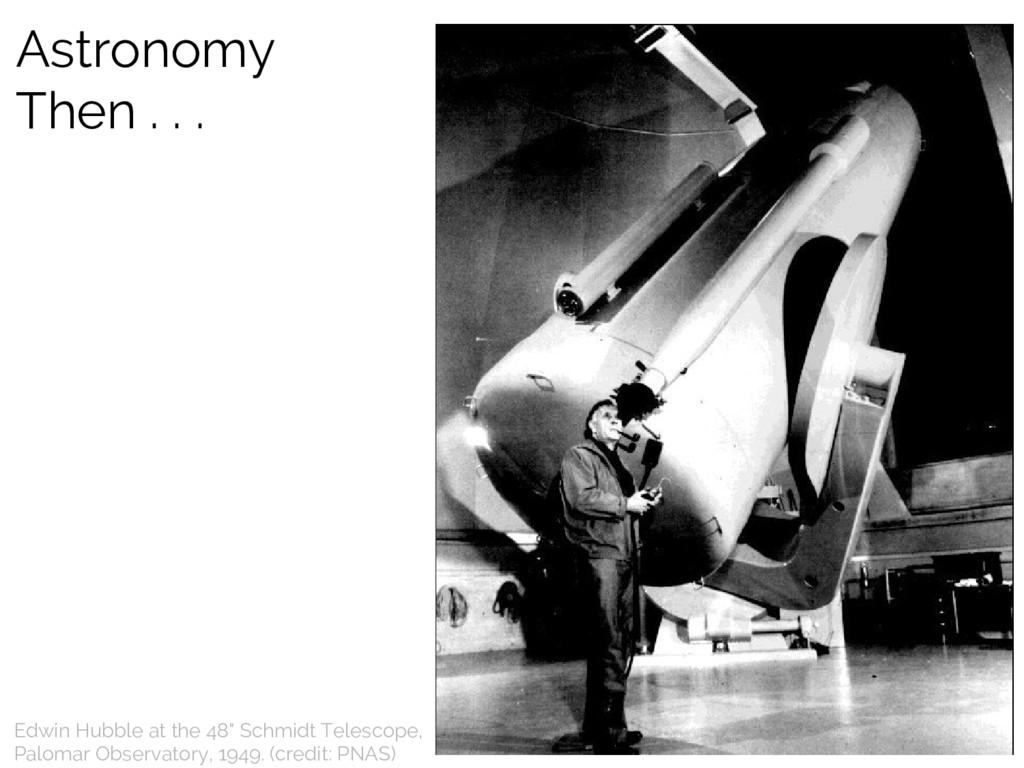 "Edwin Hubble at the 48"" Schmidt Telescope, Palo..."