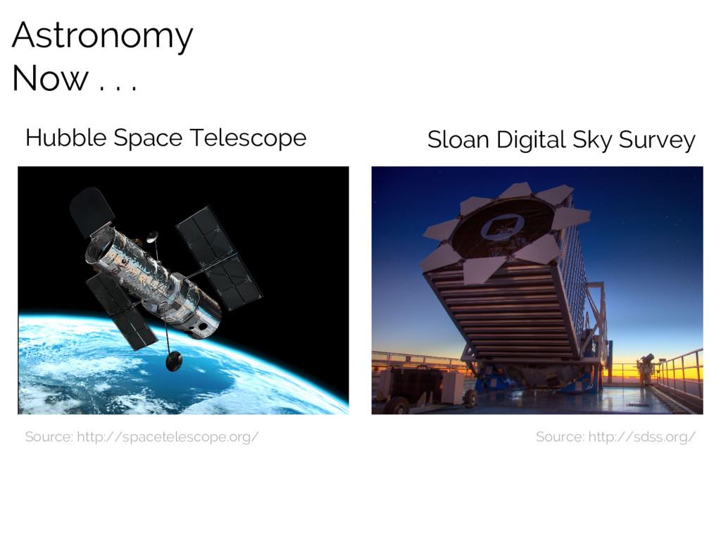 Astronomy Now . . . Source: http://spacetelesco...