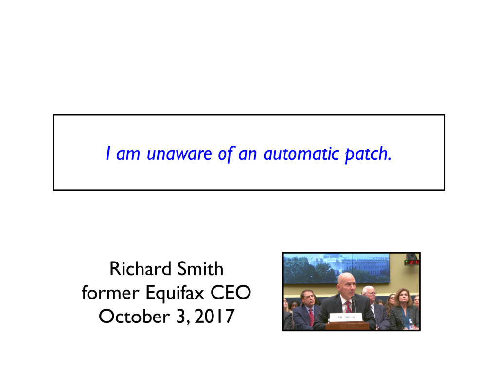 I am unaware of an automatic patch. Richard Smi...