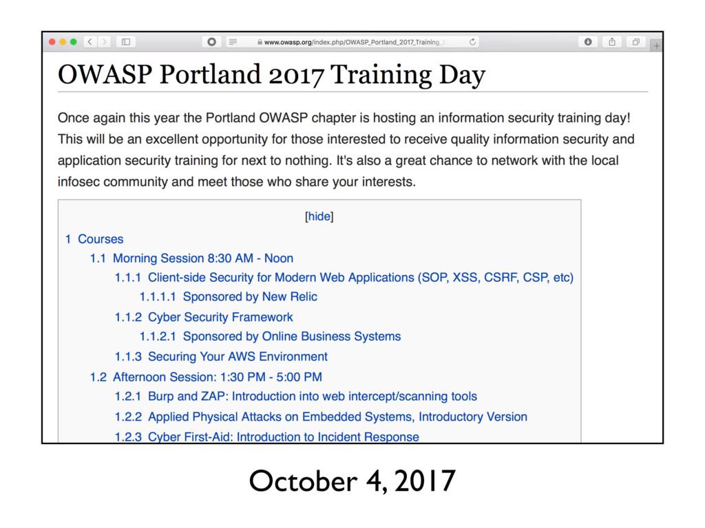 October 4, 2017