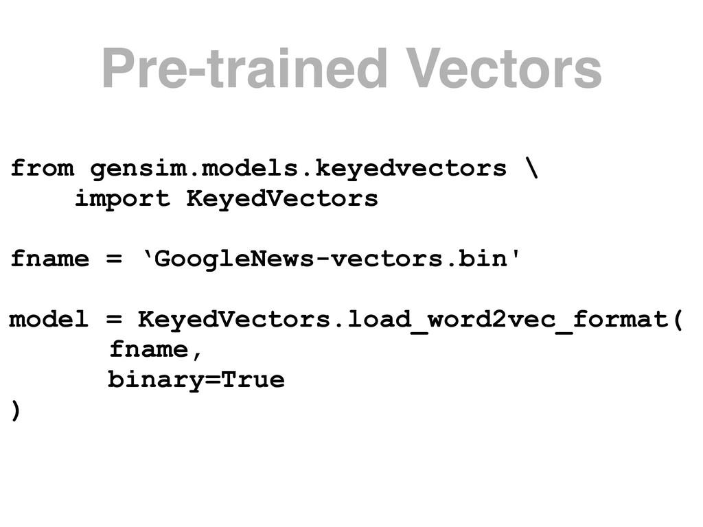 Pre-trained Vectors from gensim.models.keyedvec...