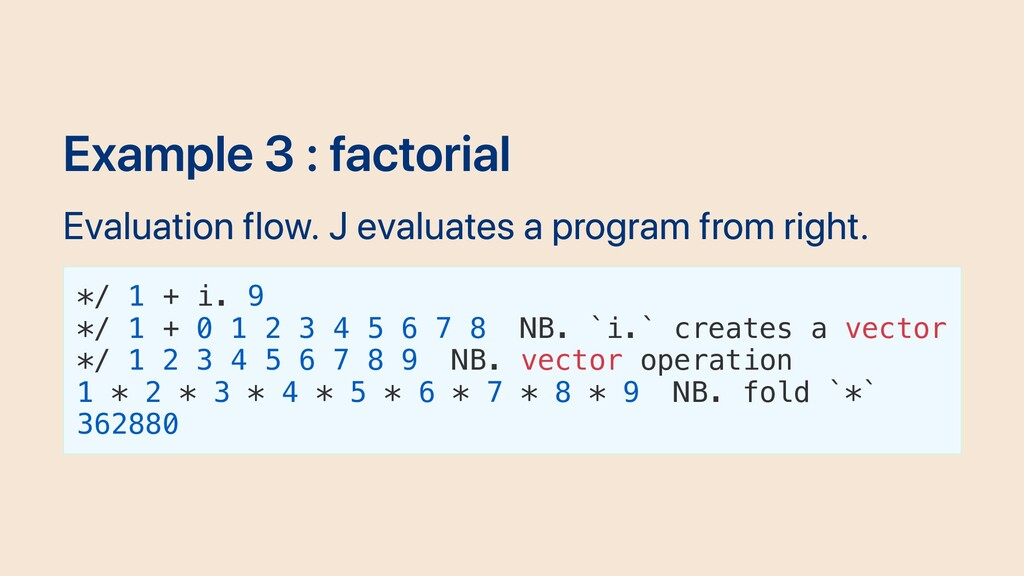 Example 3 : factorial Evaluation flow. J evalua...