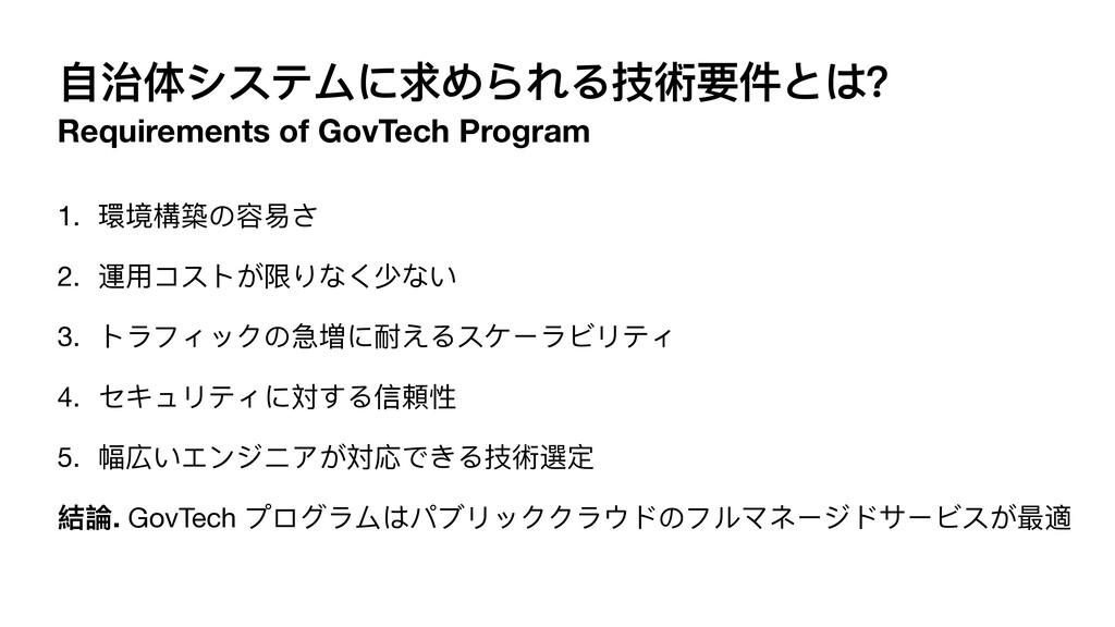 ⾃治体システムに求められる技術要件とは? Requirements of GovTech Pr...