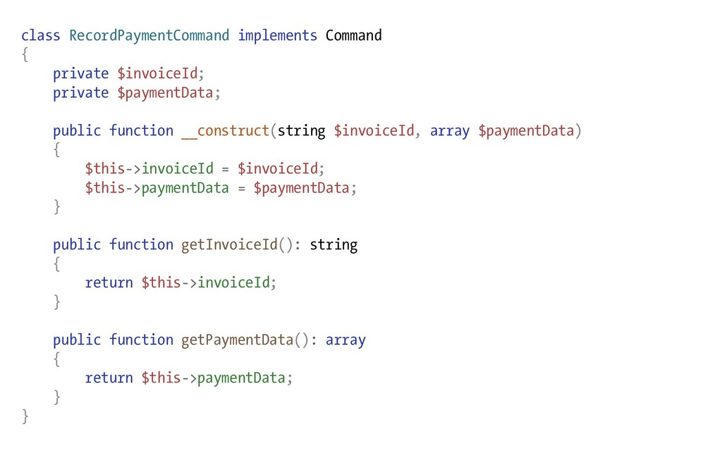 class RecordPaymentCommand implements Command {...